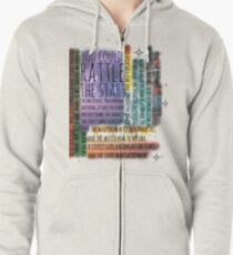 THRONE OF GLASS QUOTES Zipped Hoodie