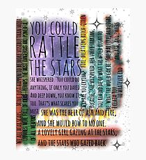 THRONE OF GLASS QUOTES Photographic Print