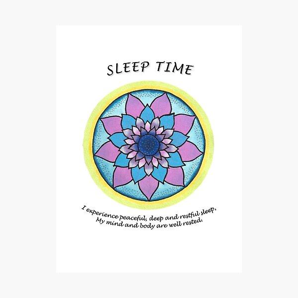 Sleep time Mandala (affirmation) Photographic Print