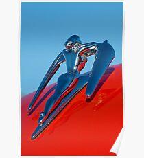 1960 Nash Metropolitan Hood Ornament -0854c Poster