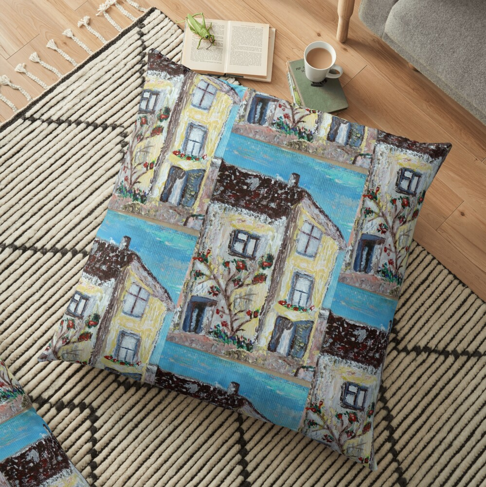 Cornwall house pattern Floor Pillow