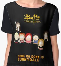 Buffy the Vampire Slayer as South Park Women's Chiffon Top
