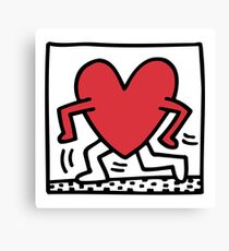 Keith Haring - Untitled (Heart) Canvas Print