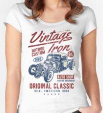 HOTROD - Vintage Iron Hot Rod Shirt Motiv Women's Fitted Scoop T-Shirt