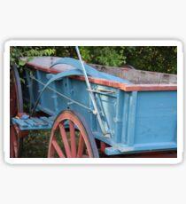 blue wagon Sticker