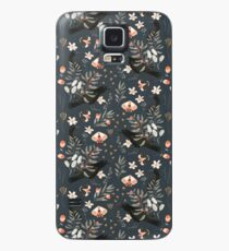 Black Crow and Butterflies Case/Skin for Samsung Galaxy