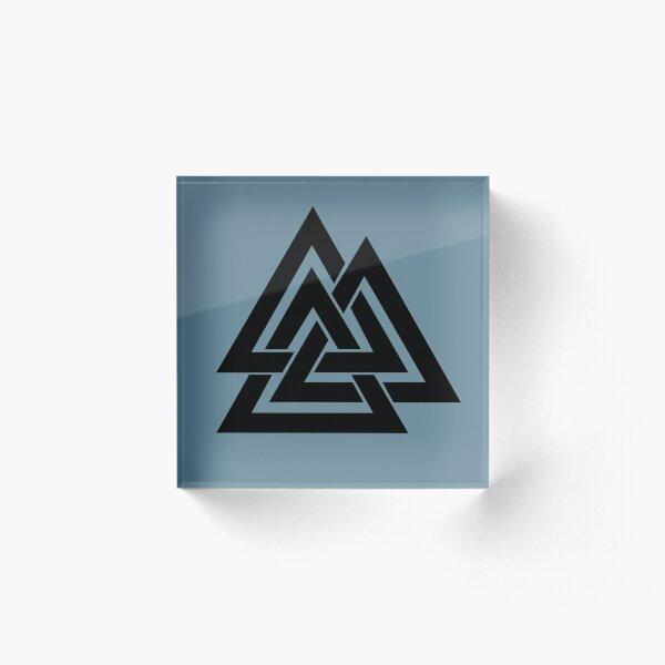 Valknut symbol Acrylic Block