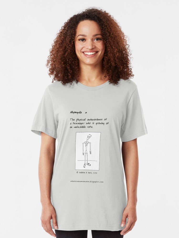 Alternate view of What's in a Name, Mate? ... Alyangula Slim Fit T-Shirt