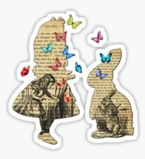 Alice & the Rabbit - Vintage Wonderland Book Sticker