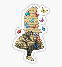 Alice In Wonderland - Vintage Wonderland Book Sticker
