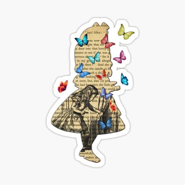 Alice au pays des merveilles - Vintage Wonderland Book Sticker