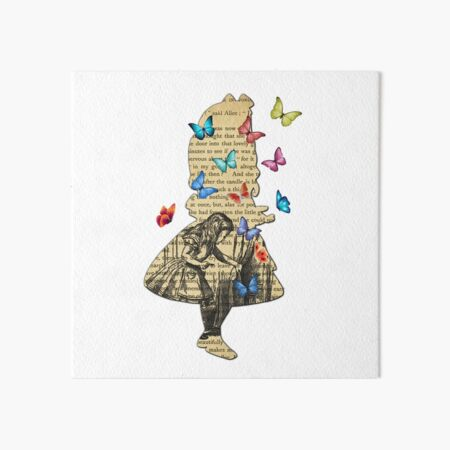 Alice In Wonderland - Vintage Wonderland Book Art Board Print
