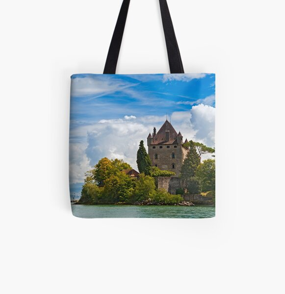 The 700 year old castle of Yvoire by the lake Geneva All Over Print Tote Bag