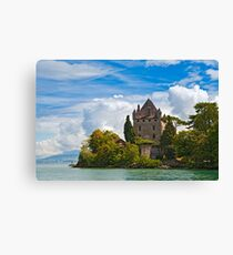 The 700 year old castle of Yvoire by the lake Geneva Canvas Print