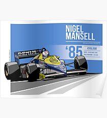 Nigel Mansell - 1985 Kyalami Poster