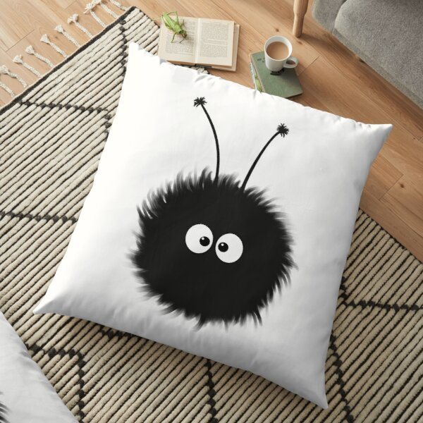 White Cute Dazzled Bug Floor Pillow