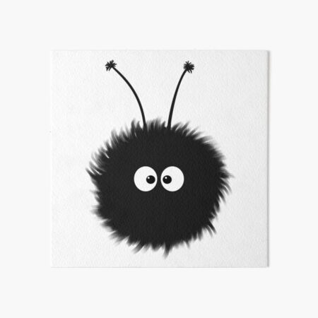 White Cute Dazzled Bug Art Board Print