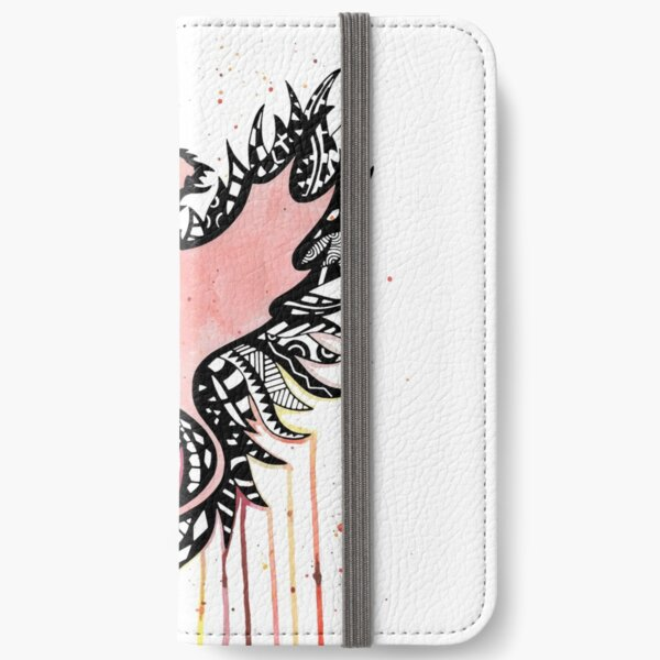 Watercolor Phoenix  iPhone Wallet
