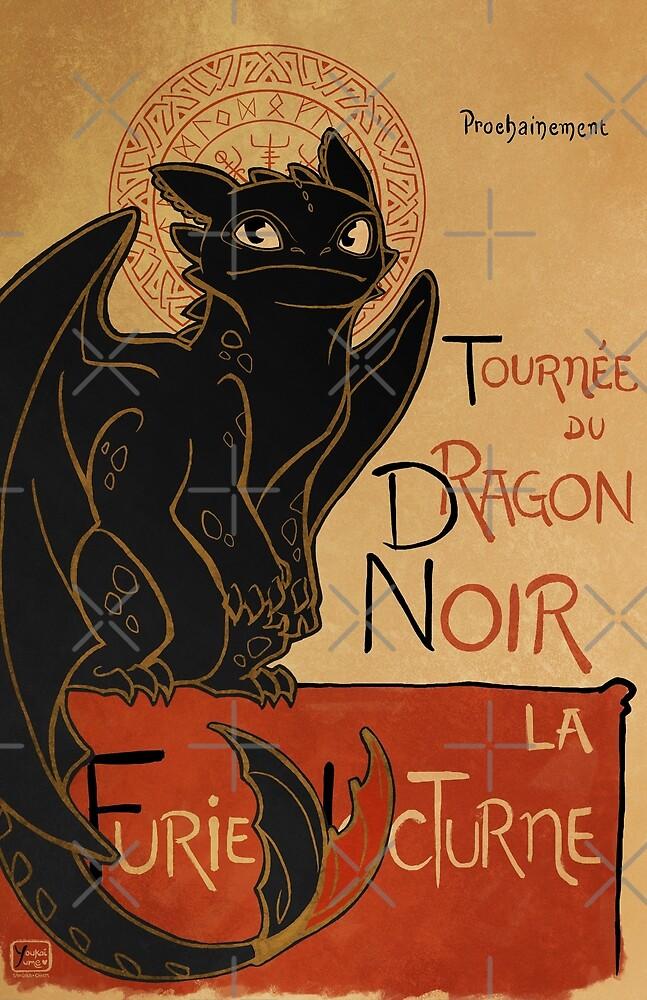 Le Dragon Noir by youkaiyume