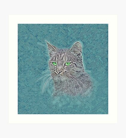 Felis silvestris catus Art Print