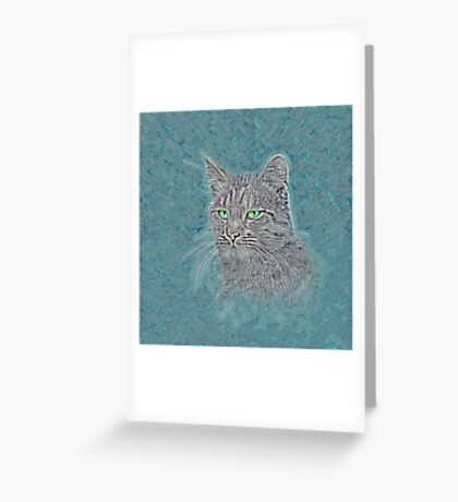 Felis silvestris catus Greeting Card