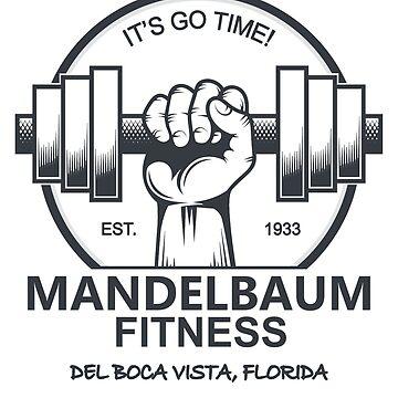 Seinfeld - Mandelbaum Fitness T-Shirt (White) by DuckSkinAngel