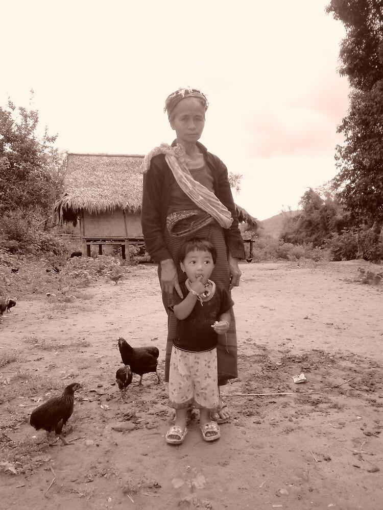 Akha villagers Northern Laos by vondan