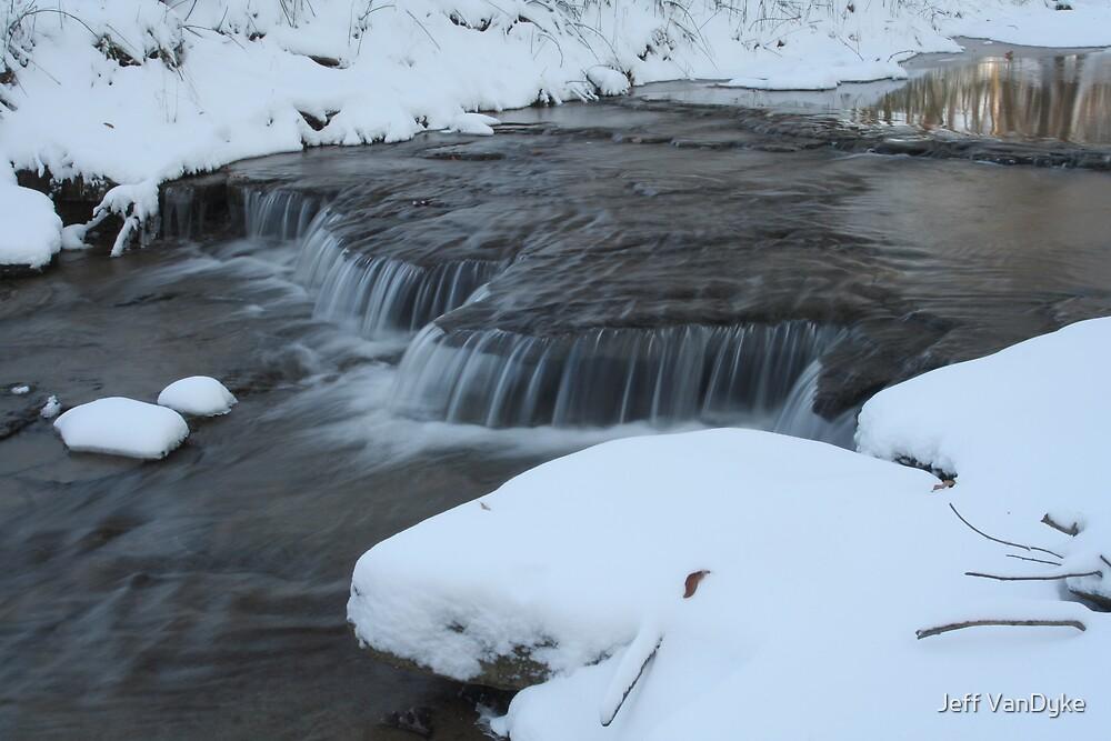Rocky Run Creek - Winter #3 by Jeff VanDyke