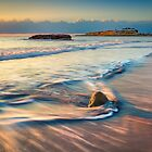 Banyets, rock and waves at dawn by Ralph Goldsmith