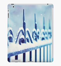 metal decorative fence fragment with snow iPad Case/Skin