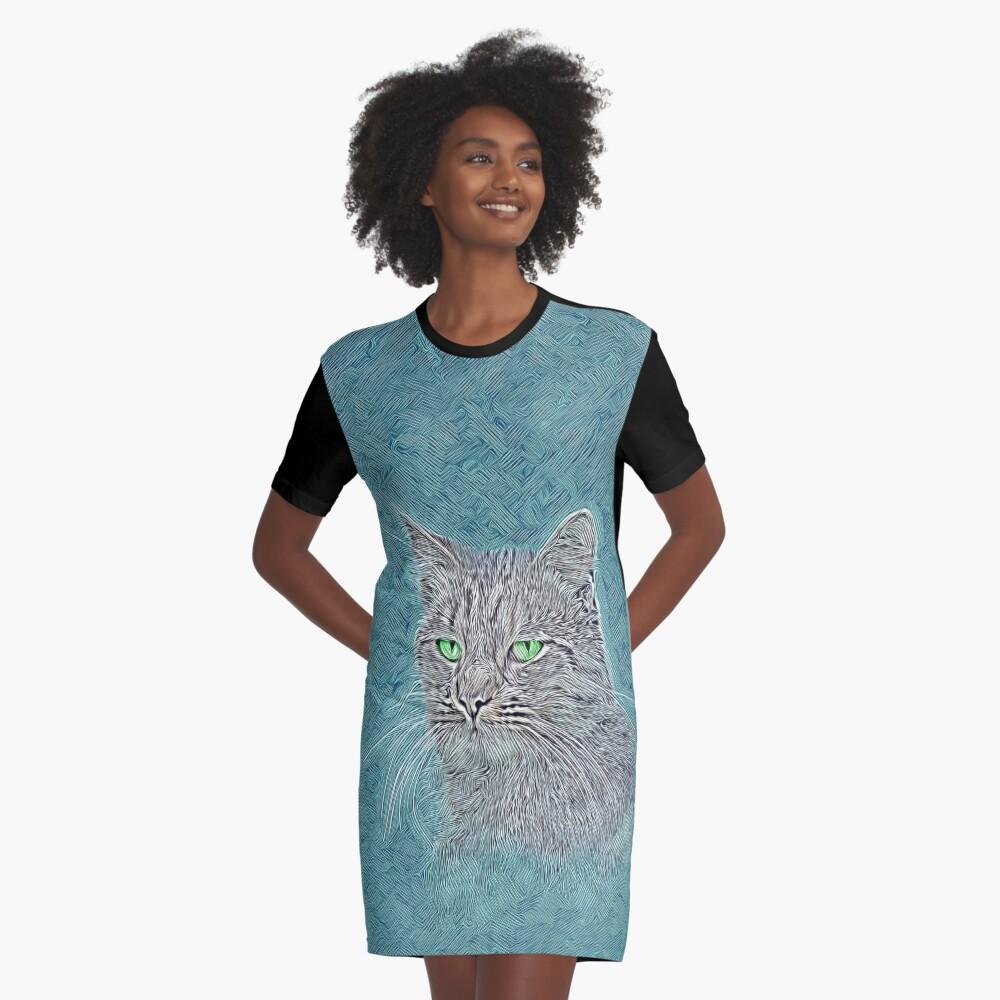 Felis silvestris catus Graphic T-Shirt Dress