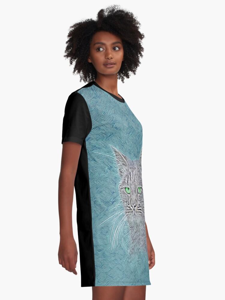Alternate view of Felis silvestris catus Graphic T-Shirt Dress