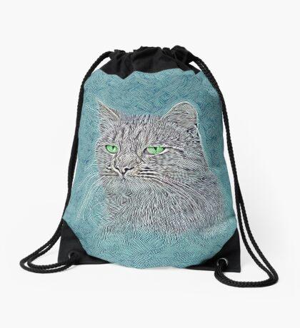 Felis silvestris catus Drawstring Bag