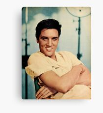 ELVIS PRESLEY - COLOURIZED - 1958 Canvas Print
