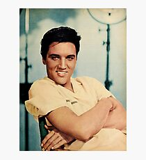 ELVIS PRESLEY - COLOURIZED - 1958 Photographic Print