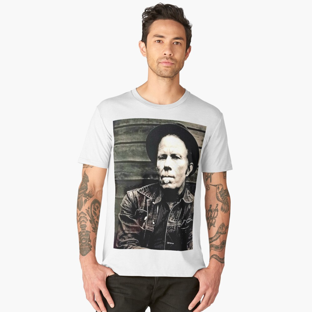 Tom Waits the Later Years Men's Premium T-Shirt Front
