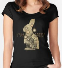 Alice In Wonderland - White Rabbit - I'm Late! Women's Fitted Scoop T-Shirt