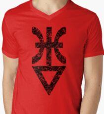 Heavily faded laughing god  rune Men's V-Neck T-Shirt