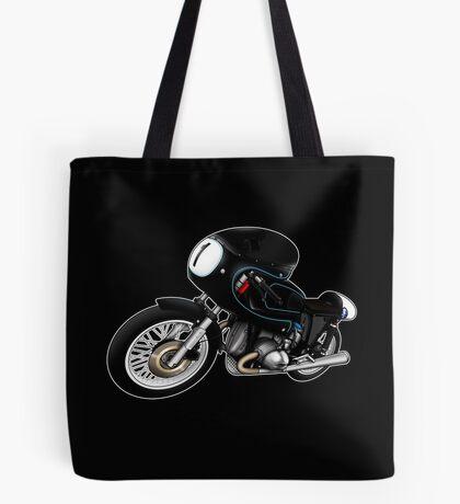 Motorcycle T-shirts Art: Black on Black Tote Bag
