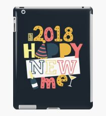 Happy New Year 2018 Happy New Me Better Me Colorful New Year's Resolution iPad Case/Skin