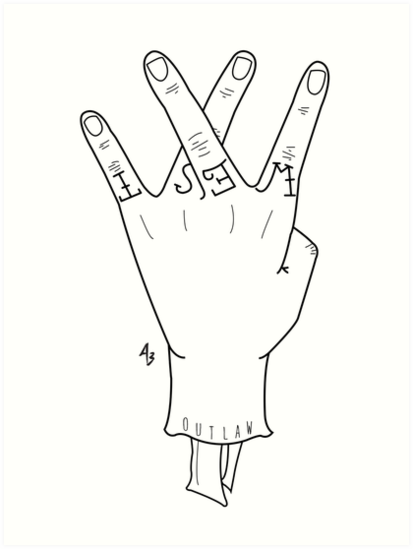 """West Side Hand Sign Drawing """"West Side Hand S..."""