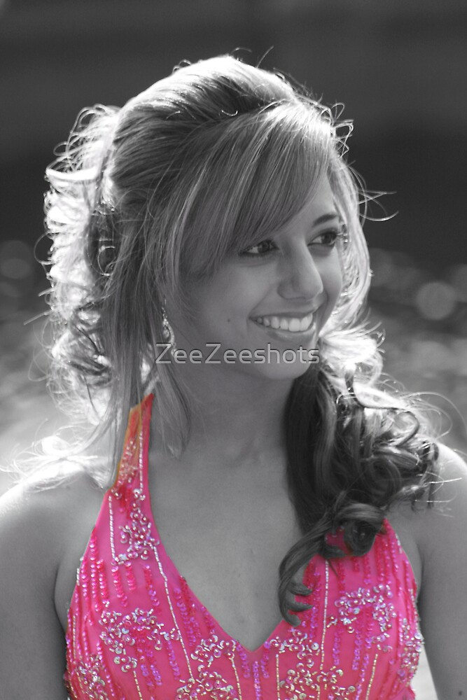 Her pink dress by ZeeZeeshots