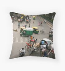 Delhi intersection! Throw Pillow