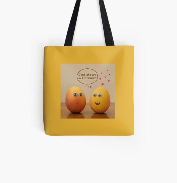 Blushing Mango All Over Print Tote Bag