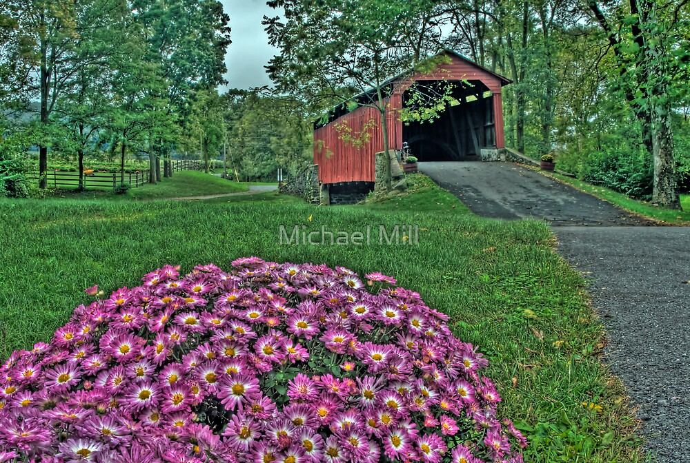 Covered Bridge in HDR by Michael Mill
