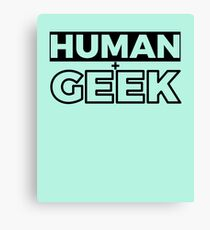 Human And Geek Classic Timeless Simplistic T-Shirt Design For Men And Women Canvas Print