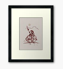 Nature Warriors: Battle Hedgehog Framed Print