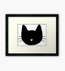 Cat Heart Nose Framed Print