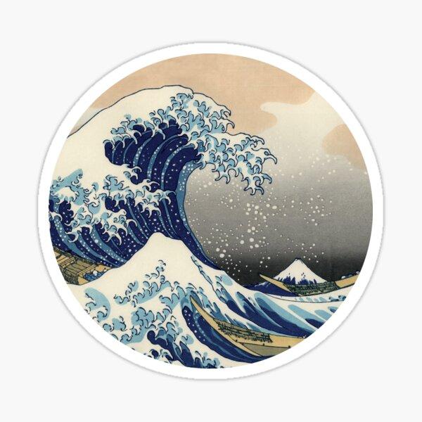 Hokusai wave Sticker