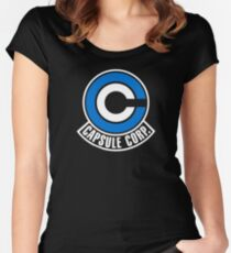 Capsule Corp Women's Fitted Scoop T-Shirt